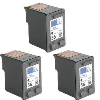 HP C6656 (HP 56) Compatible Inkjet Cartridge For 3550 5550 5652 9650 9680 (Pack of 3)