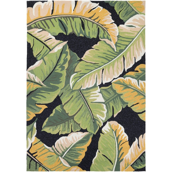 Couristan Covington Rainforest Forest Green-black Indoor/Outdoor Rug - 8' x 11'