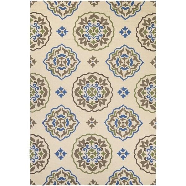 Couristan Covington San Clemente Cream-blue Indoor/Outdoro Rug - 8' x 11'