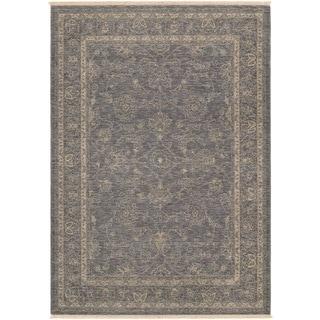Couristan Elegance Aurelia/ Dusty Blue-beige Rug (8' x 11')