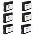 HP 951XL Cyan Yellow Magenta Compatible Inkjet Cartridge For HP OfficeJet Pro 8100 HP OfficeJet Pro 8600 (Pack of 6)