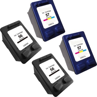 Remanufactured HP C6657 HP 57/ HP C6656 HP 56 Compatible Inkjet Cartridge for 3550 4110 (Pack of 4)