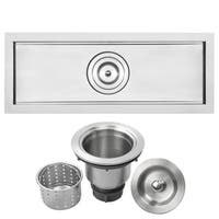 "22"" Ticor TR3000 Bradford Series 16-Gauge Stainless Steel Undermount Kitchen and Bar Sink"