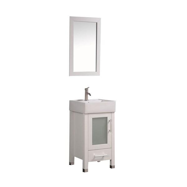 Bathroom Mirrors Malta mtd vanities malta 18-inch single sink espresso bathroom vanity