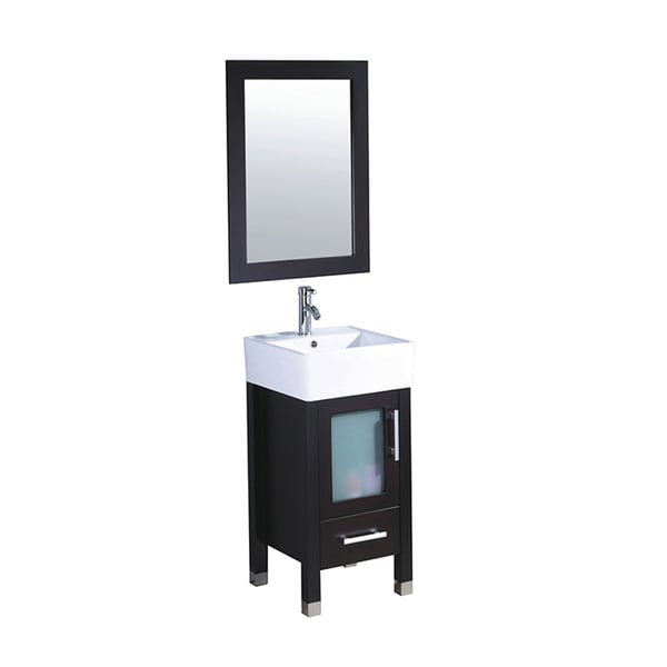 18 deep vanity cabinet 36 x depth vanities single sink espresso bathroom set mirror faucet