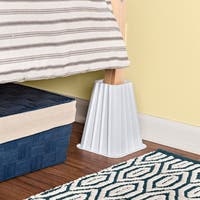 Honey-Can-Do Ivory Bed Risers (Set of 4)