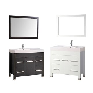 MTD Vanities Greece 36-inch Single Sink Espresso Bathroom Vanity Set with Mirror and Faucet
