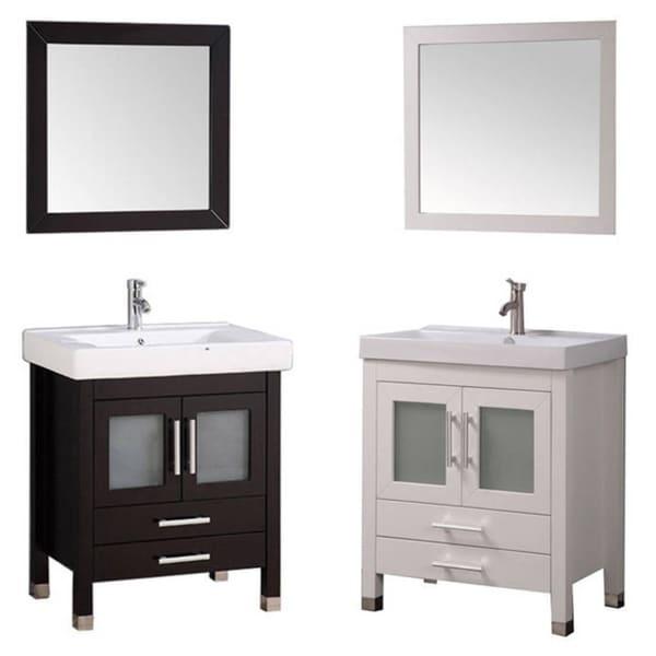 65 Inch Bathroom Vanity Single Sink: Shop MTD Vanities Greece 30-inch Single Sink Espresso