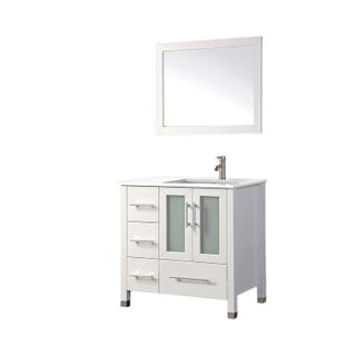 MTD Vanities Sweden 36-inch Single Sink Bathroom Vanity Set (Right Side) with Free Mirror and Faucet
