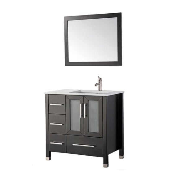 Mtd vanities sweden 36 inch single sink bathroom vanity set right side with free mirror and for Bathroom vanities single sink 36 inches
