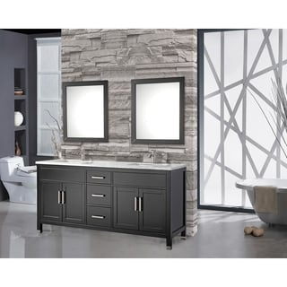Charming MTD Vanities Ricca 72 Inch Double Sink Bathroom Vanity Set With Free Mirror  And Faucet