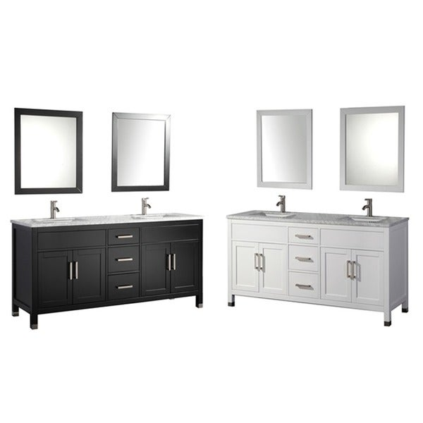 Mtd vanities ricca 60 inch double sink bathroom vanity set with free mirror and faucet free for Caroline 60 inch double sink bathroom vanity set