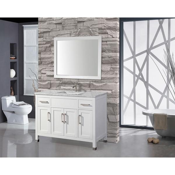 MTD Vanities Ricca 60 Inch Single Sink Bathroom Vanity Set With Free Mirror  And Faucet