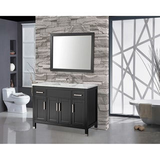 MTD Vanities Ricca 60-inch Single Sink Bathroom Vanity Set with Free Mirror and Faucet