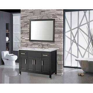MTD Vanities Ricca 60-inch Single Sink Bathroom Vanity Set with Free Mirror and Faucet