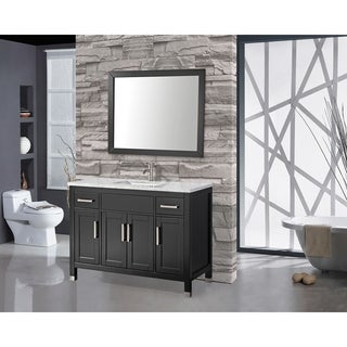 MTD Vanities Ricca 48-inch Single Sink Bathroom Vanity Set with Free Mirror and Faucet