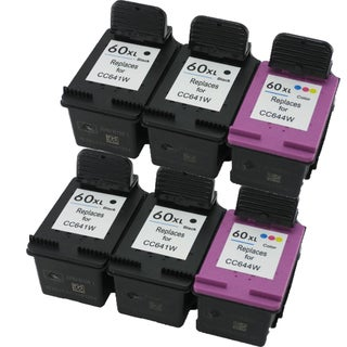 CC641WN CC644WN (HP 60XL) Compatible Inkjet Cartridge For D1660 D2500 D2530 D2545 D2560 (Pack of 6)