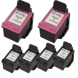 CH564WN (HP 61XL) CH563WN (HP 61XL) Compatible Inkjet Cartridge For DeskJet 1000 - J110a DeskJet 1000 - J110c (Pack of 6)