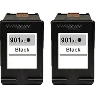 901XL BK (CC654AN) Compatible Inkjet Cartridge For J4500 J4540 J4550 J4640 J4680 (Pack of 2)