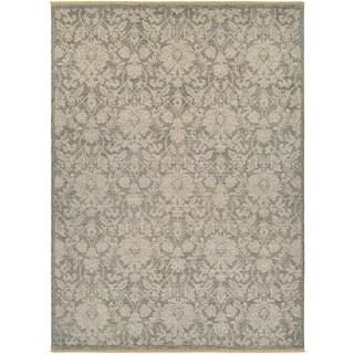 Power-Loomed Veneta Abelle Grey/Tan Blended of European and New Zealand Wool Rug (8'2 x 11'3)