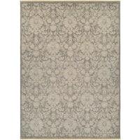 Veneta Abelle Grey/Tan Wool Area Rug - 8'2 x 11'3