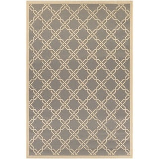 Couristan Five Seasons Sun Island/ Slate-cream Rug (9'2 x 12')