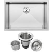 """28"""" Ticor S3680 Pacific Series 16-Gauge Stainless Steel Undermount Single Basin Zero Radius Kitchen Sink"""