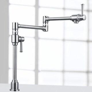 Geyser Stainless Steel Deck Mount Pot Filler Kitchen Faucet with Dual Handles