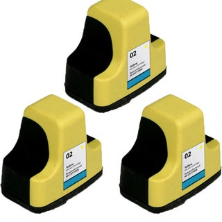 HP 02 YE C8773 Compatible Inkjet Cartridge For 3110 3210 3210v 3210xi 3310 3310xi (Pack of 3)