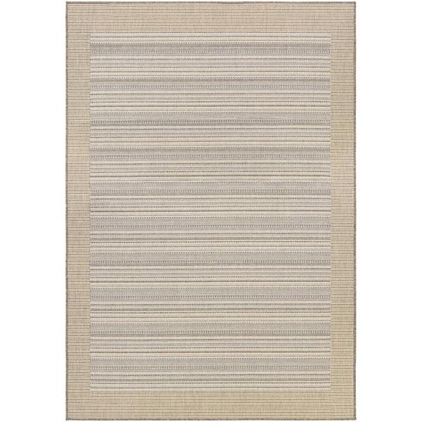"Couristan Monaco Bowline/ Cocoa Natural-Ivory Rug (7'6"" x 10'9"") - 7'6 x 10'9"