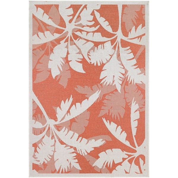 Samantha Bal Harbor/Ivory-Orange Indoor/Outdoor Rug - 8'6 x 13'