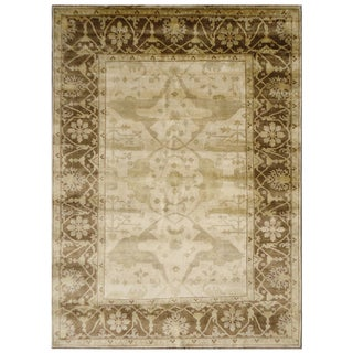 Anatolia NCP 914 Ivory Brown Colored Rug (2'6 x 8')
