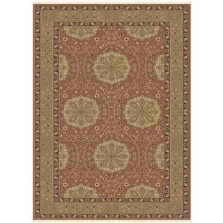 Antiqua GA 50 Red Medium Brown Colored Rug (4' x 6')