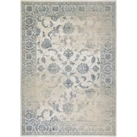"Couristan Provincia Botanic Applique/ Beige-Grey Area Rug - 7'10"" x 11'2"""