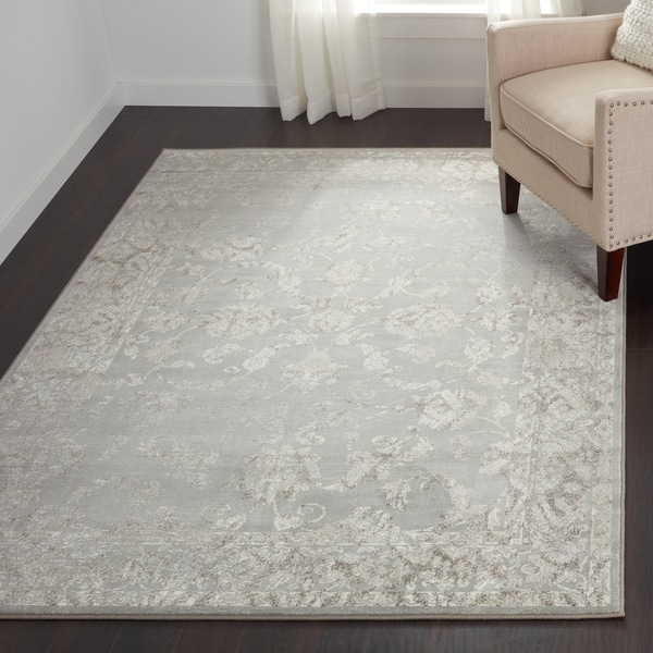 Shop Loire Elegance Grey Cream Area Rug 710 X 112 Free