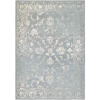 Couristan Provincia Botanic Applique/ Mint-cream Rug (8' x 11')