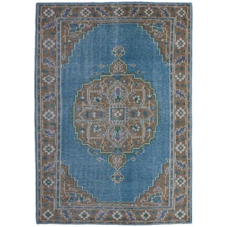 Brio BRO 3 Blue Camel Colored Rug (5' x 8')