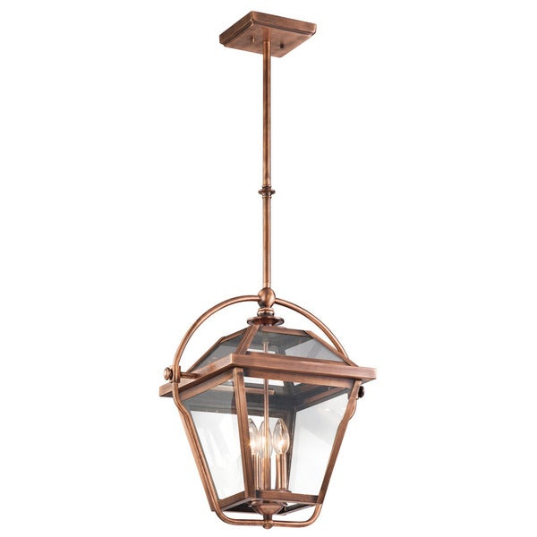 Kichler Lighting Ryegate Collection 3 Light Antique Copper Indoor Lantern Pendant