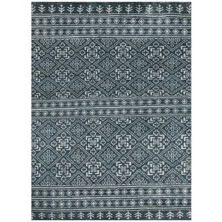 Feza FEZ 5 Dark Grey Colored Rug (5' x 8')