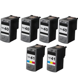 PG-40 CL-41 Compatible Inkjet Cartridge For JX200 MP140 MP150 MP160 MP170 MP180 MP190 MP210 MP450 MP460 MP470 (Pack of 6)