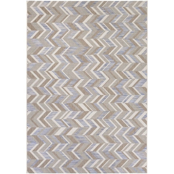"Couristan Tides Shelter Island/ Blue-Grey Rug - 7'10"" x 10'10"""