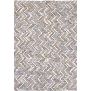 Couristan Tides Shelter Island/ Blue-Grey Rug (7'10 x 10'10)