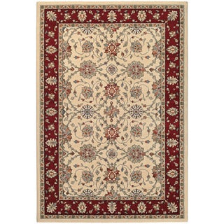 Couristan Traditions Halle/ Ivory/ Ruby Rug (8' x 11')