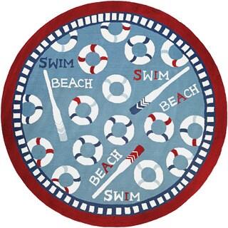 Couristan Beachfront Orford/ Blue-Multi Rug (8')