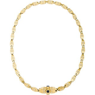 18k Yellow Gold 10ct TDW Diamond Heavy Gold Chain Estate Necklace (H-I, VS1-VS2)
