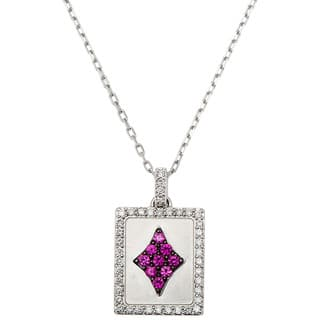 18k White Gold 1/4ct TDW Ace of Diamonds Ruby Estate Necklace (G-H, SI1-SI2) https://ak1.ostkcdn.com/images/products/10428605/P17526980.jpg?impolicy=medium