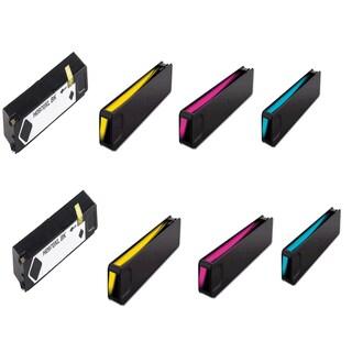 HP 970XL 971XL Black Cyan Magenta Yellow Ink Cartridge HP OfficeJet Pro X451dn (Pack of 8)