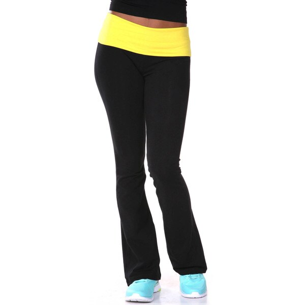 White Mark Women's Two Color Yoga Pants. Opens flyout.