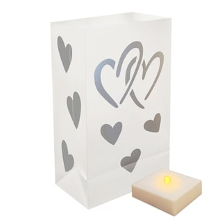 Battery Operated Luminaria Hearts Kit with Timer (Set of 6)