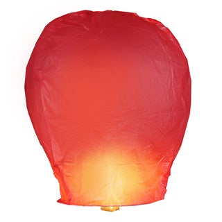 Red Sky Lanterns (4 Count)